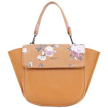 Taška Ženy Kabelky  Diana & Co Květinová dámská taška s klopou hořčicově žlutá Žlutá
