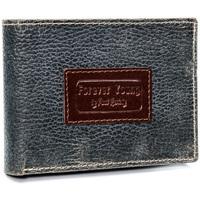Taška Muži Náprsní tašky Forever Young Kožená šedá pánská peněženka v krabičce RFID Šedá
