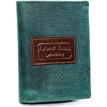 Taška Muži Náprsní tašky Forever Young Kožená zelená pánská peněženka RFID v krabičce zelená