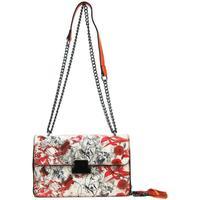 Taška Ženy Kabelky s dlouhým popruhem Sara Moda Crossbody dámská kabelka na řetízku s potiskem 6257 oranžová oranžová
