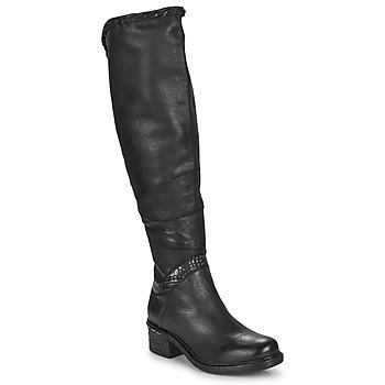 Boty Ženy Vysoké kozačky nad kolena Airstep / A.S.98 NOVASUPER HIGH Černá