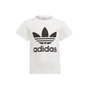 Textil Děti Trička s krátkým rukávem adidas Originals FLORE Bílá
