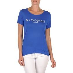 Textil Ženy Trička s krátkým rukávem School Rag TEMMY WOMAN Modrá