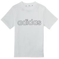 Textil Chlapecké Trička s krátkým rukávem adidas Performance ALBA Bílá
