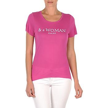 Textil Ženy Trička s krátkým rukávem School Rag TEMMY WOMAN Fialová