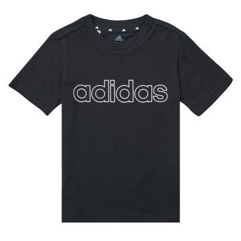 Textil Chlapecké Trička s krátkým rukávem adidas Performance SAMINA Černá