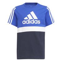 Textil Chlapecké Trička s krátkým rukávem adidas Performance ABATIA Tmavě modrá / Černá