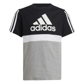 Textil Chlapecké Trička s krátkým rukávem adidas Performance MOULITA Šedá / Černá