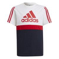 Textil Chlapecké Trička s krátkým rukávem adidas Performance GUILIA Bílá / Tmavě modrá