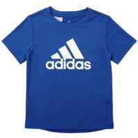 Textil Chlapecké Trička s krátkým rukávem adidas Performance CLAUDIA Modrá