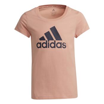 Textil Dívčí Trička s krátkým rukávem adidas Performance ALBERIC Růžová