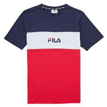 Textil Dívčí Trička s krátkým rukávem Fila TEKANI Červená / Tmavě modrá