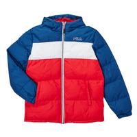 Textil Chlapecké Prošívané bundy Fila BELOMA Červená / Tmavě modrá