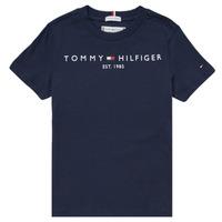 Textil Chlapecké Trička s krátkým rukávem Tommy Hilfiger SELINERA Tmavě modrá