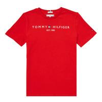 Textil Chlapecké Trička s krátkým rukávem Tommy Hilfiger SELINERA Červená