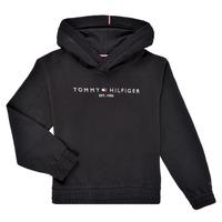 Textil Dívčí Mikiny Tommy Hilfiger DEMINRA Černá