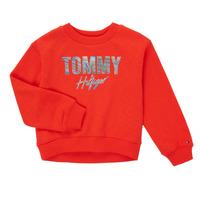 Textil Dívčí Mikiny Tommy Hilfiger KOMELA Červená