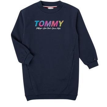 Textil Dívčí Krátké šaty Tommy Hilfiger BELISTA Tmavě modrá