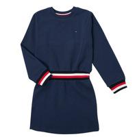 Textil Dívčí Krátké šaty Tommy Hilfiger ARNO Tmavě modrá