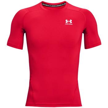 Textil Muži Trička s krátkým rukávem Under Armour Heatgear Armour Short Sleeve Červená