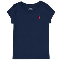 Textil Dívčí Trička s krátkým rukávem Polo Ralph Lauren DRETU Tmavě modrá