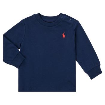 Textil Chlapecké Trička s dlouhými rukávy Polo Ralph Lauren FADILA Tmavě modrá