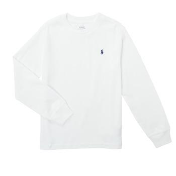 Textil Chlapecké Trička s dlouhými rukávy Polo Ralph Lauren KEMILO Bílá