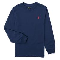 Textil Chlapecké Trička s dlouhými rukávy Polo Ralph Lauren KEMILO Tmavě modrá