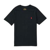 Textil Chlapecké Trička s krátkým rukávem Polo Ralph Lauren FANNY Černá