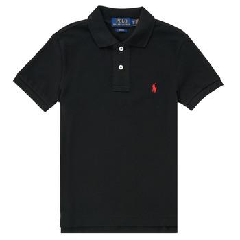 Textil Chlapecké Polo s krátkými rukávy Polo Ralph Lauren HOULIA Černá