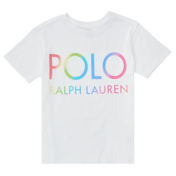 Textil Chlapecké Trička s krátkým rukávem Polo Ralph Lauren FERILO Bílá