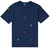 Textil Chlapecké Trička s krátkým rukávem Polo Ralph Lauren MOULINE Tmavě modrá