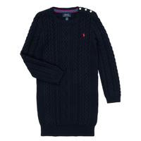 Textil Dívčí Krátké šaty Polo Ralph Lauren RURBE Tmavě modrá