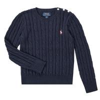 Textil Dívčí Svetry Polo Ralph Lauren PETILA Tmavě modrá