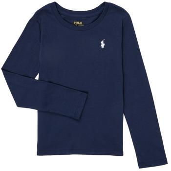 Textil Dívčí Trička s dlouhými rukávy Polo Ralph Lauren TENINA Tmavě modrá