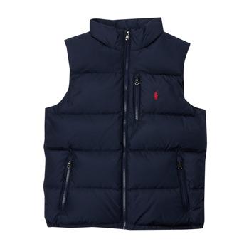 Textil Chlapecké Prošívané bundy Polo Ralph Lauren SOLEDDA Tmavě modrá