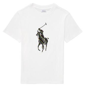 Textil Chlapecké Trička s krátkým rukávem Polo Ralph Lauren GUILIA Bílá