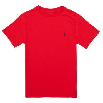 Textil Chlapecké Trička s krátkým rukávem Polo Ralph Lauren FOLLIA Červená
