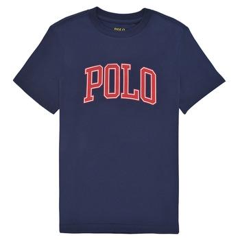 Textil Dívčí Trička s krátkým rukávem Polo Ralph Lauren MATIKA Tmavě modrá