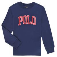 Textil Chlapecké Trička s dlouhými rukávy Polo Ralph Lauren METIKA Tmavě modrá