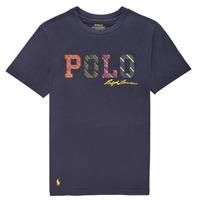 Textil Chlapecké Trička s krátkým rukávem Polo Ralph Lauren COLLINA Tmavě modrá