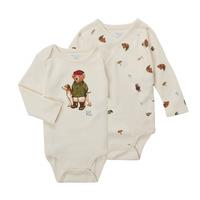 Textil Chlapecké Body Polo Ralph Lauren TAKINA Krémově bílá
