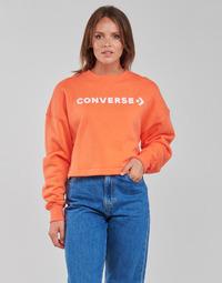 Textil Ženy Mikiny Converse EMBROIDERED WORDMARK CREW Oranžová