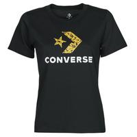Textil Ženy Trička s krátkým rukávem Converse STAR CHEVRON HYBRID FLOWER INFILL CLASSIC TEE Černá
