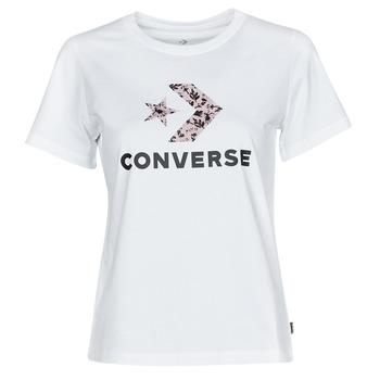 Textil Ženy Trička s krátkým rukávem Converse STAR CHEVRON HYBRID FLOWER INFILL CLASSIC TEE Bílá