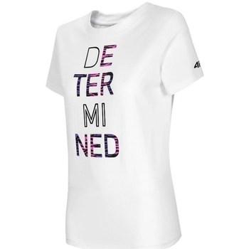 Textil Ženy Trička s krátkým rukávem 4F TSD018 Bílé