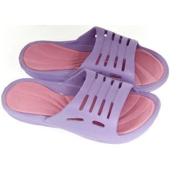 Boty Děti pantofle John-C Detské fialové šľapky MELIA fialová