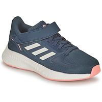Boty Dívčí Běžecké / Krosové boty adidas Performance RUNFALCON 2.0 C Tmavě modrá / Růžová
