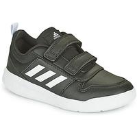 Boty Děti Nízké tenisky adidas Performance TENSAUR C Černá / Bílá