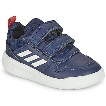 Boty Děti Nízké tenisky adidas Performance TENSAUR I Tmavě modrá / Bílá